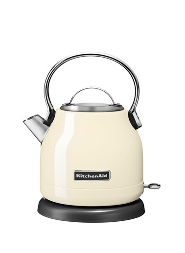 KitchenAid KitchenAid Paslanmaz Çelik Kettle 1.25 Litre Su Isıtıcı Krem